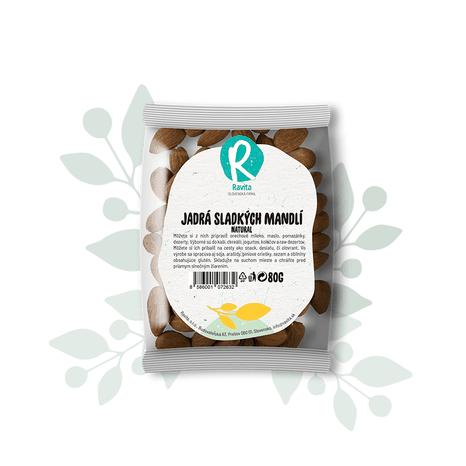 Jadrá sladkých mandlí – natural